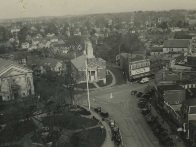 Woburn Center, Aerial View c.1930