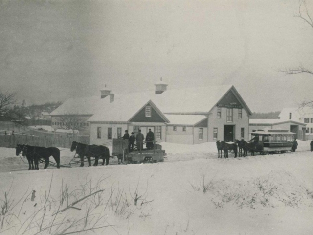 Horse Car with Snow c.1880