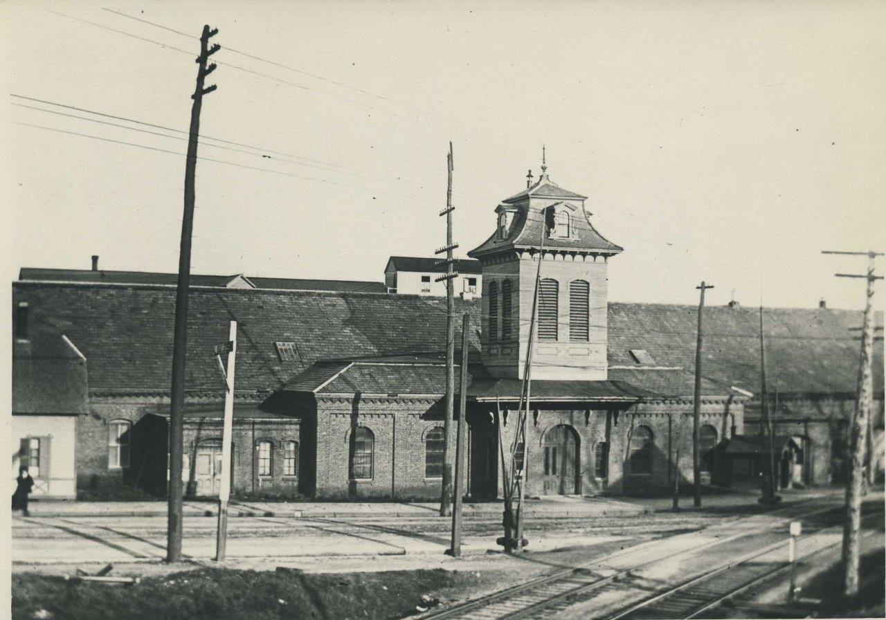 Railroad Station Built 1867 c.1885