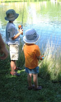 Boys Fishing at Horn Pond